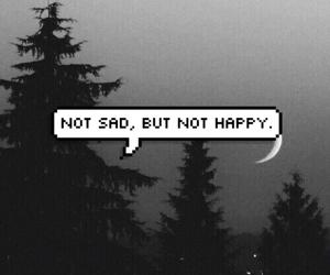 sad, happy, and grunge image