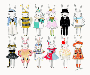 bunny and dress up image