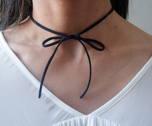 90s, bow, and choker image