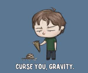 gravity, funny, and ice cream image