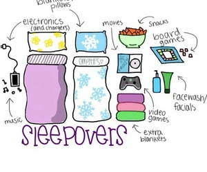 sleepover, friends, and fun image
