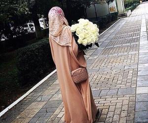 hijab, muslim, and style image