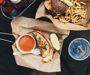 food, fries, and summer image