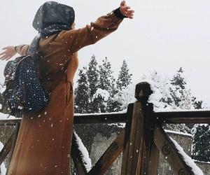 hijab and snow image