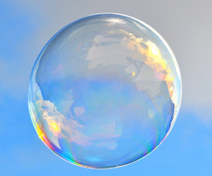 bubbles and blue image