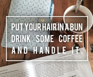 coffee, study, and bun image