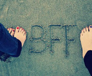 bff, beach, and friends image