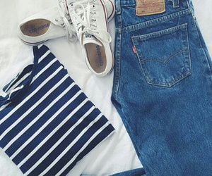 all stars, fashion, and jeans image