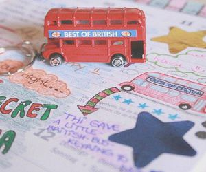 london, cute, and bus image