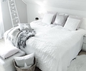 bedroom, white, and blankets image