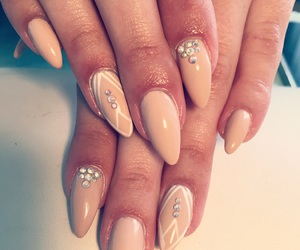 almond, nail art, and design image