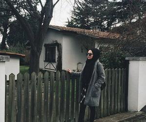 hijab, muslim, and winter image