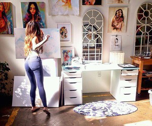 art, canvas, and girl image