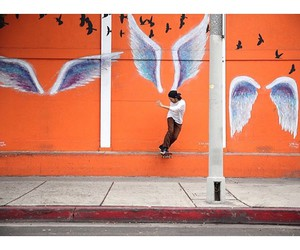 art, converse, and wings image