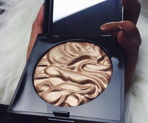 makeup, beauty, and gold image
