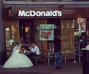 McDonalds, wedding, and funny image