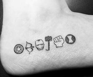 tattoo, Avengers, and Marvel image