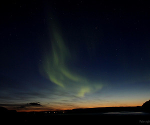 blue, northern lights, and fjord image