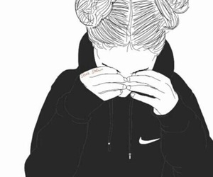 nike, outline, and tumblr image