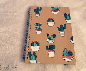 cactus, notebook, and diy image