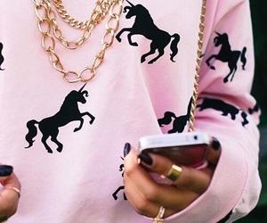 pink, unicorn, and iphone image