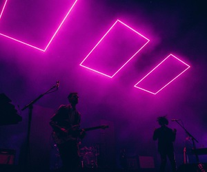 the 1975, neon, and matty healy image
