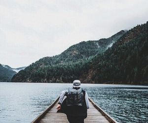 boy, travel, and nature image