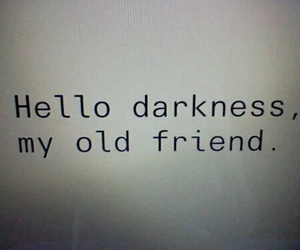 Darkness, friend, and lonely image