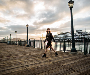 boardwalk, fashion, and girl image