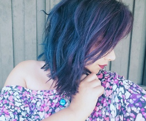 blue, blue hair, and fashion image