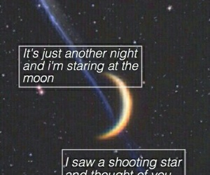 stars, moon, and quotes image
