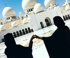 abu dhabi, mosque, and travel image