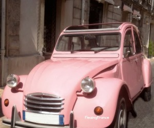 citroen, french, and pink image