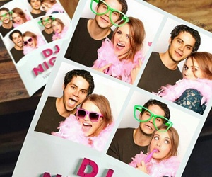 holland roden, stydia, and dylan o'brien image