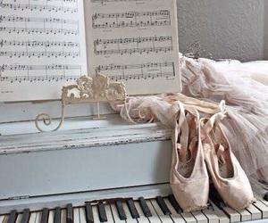 ballet, piano, and ballerina image