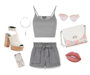 grey, outfit, and Polyvore image