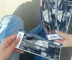 arctic monkeys, ticket, and concert image