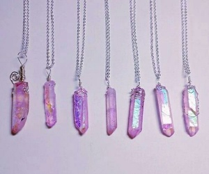 crystal, necklace, and pink image