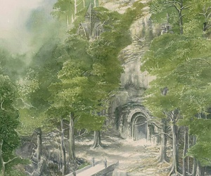 the hobbit, mirkwood, and alan lee image