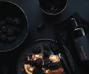 black, food, and berries image