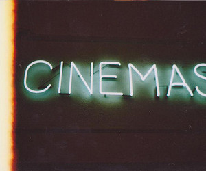 cinema, text, and neon image