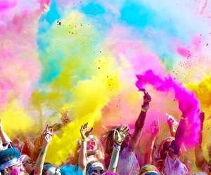 color run, color, and blue image