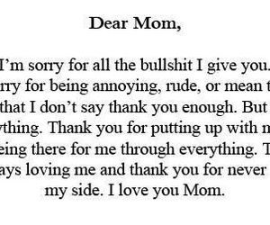 mom, quote, and thank you image