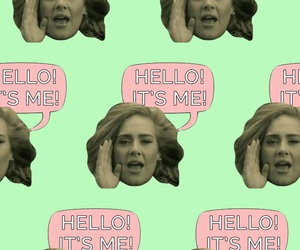Adele, green, and hello image