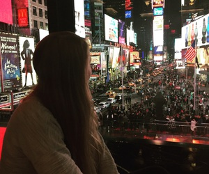 billboards, girl, and city image