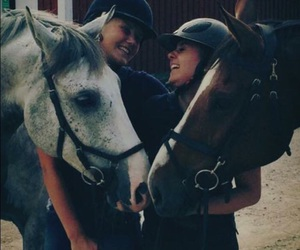 friendship, happy, and horse image