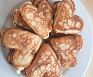 food, pancakes, and heart image