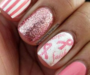nails, pink, and breast cancer image