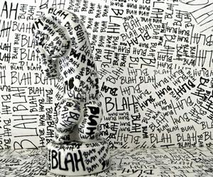 black, blah, and white image