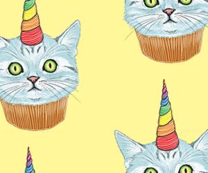 cat, unicorn, and cupcake image